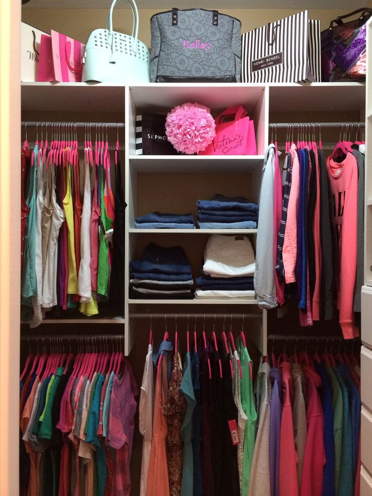 My Small Walk In Closet Redo. :)