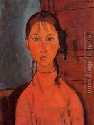 Girl With Braids  by Amedeo Modigliani