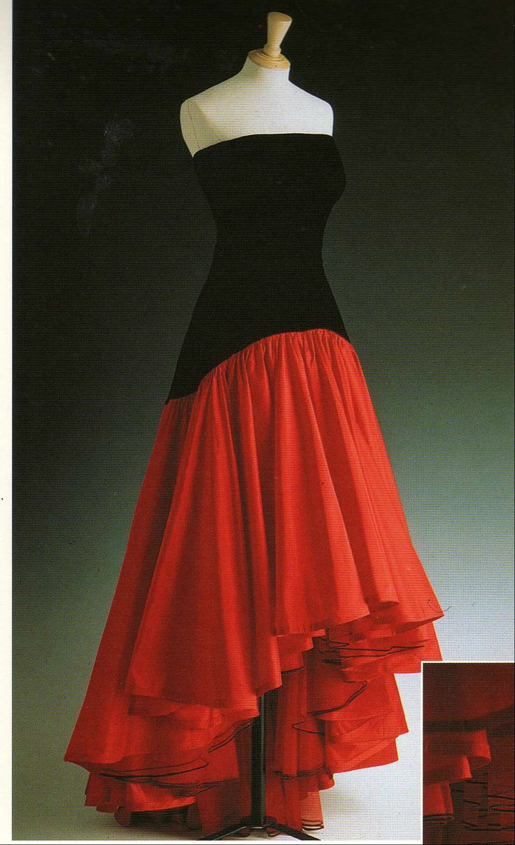 Red and Black Flamenco Dress by Murray Arbeid 1987