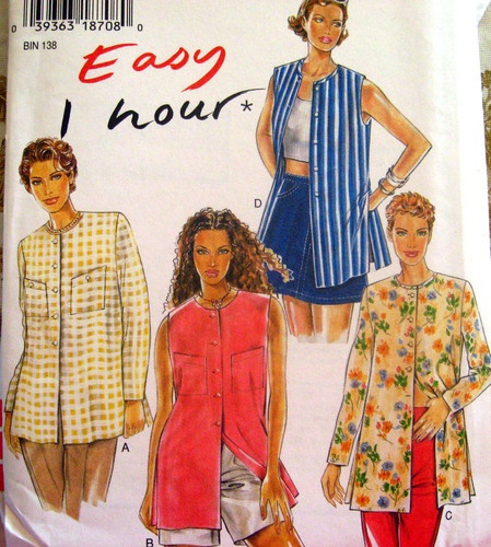 New Look Sewing Pattern 6481 Misses 8-18 Jacket with VariationsSewing Pattern