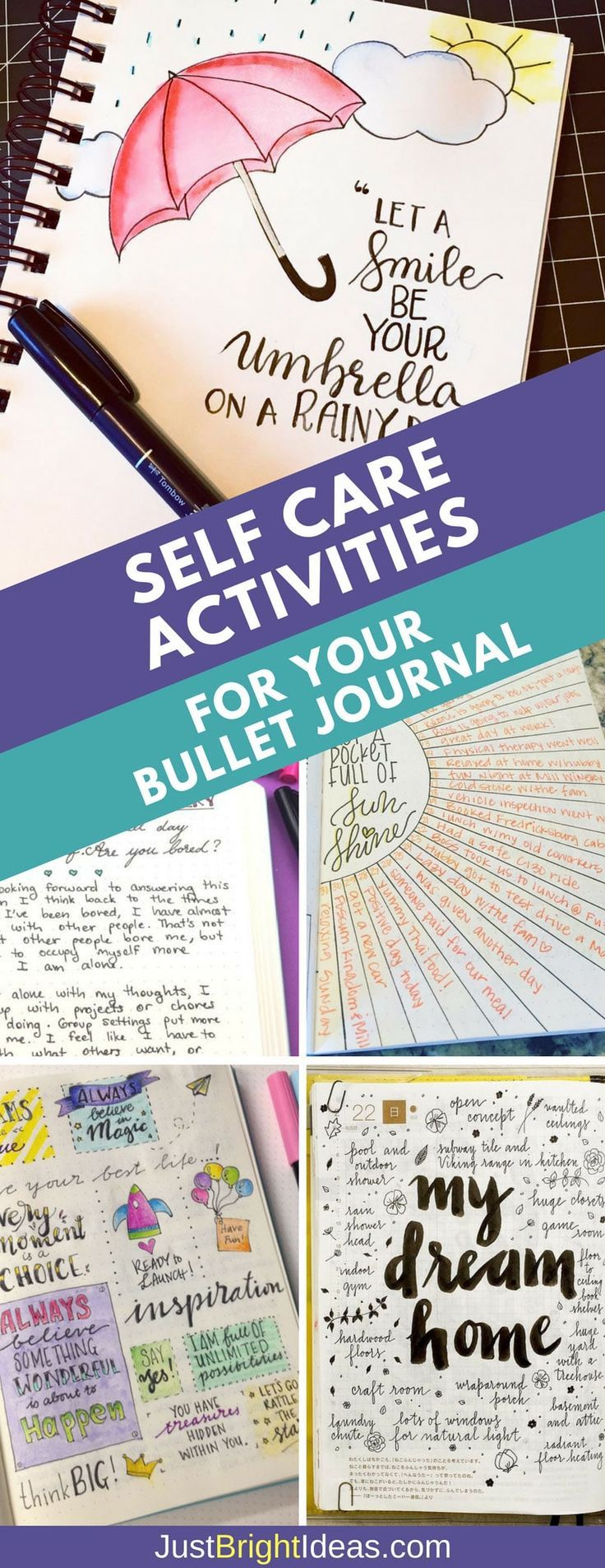 5 Examples of Self Care Activities You Can Do With Your Bullet JournalTaniya