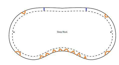DIY sleep mask pattern