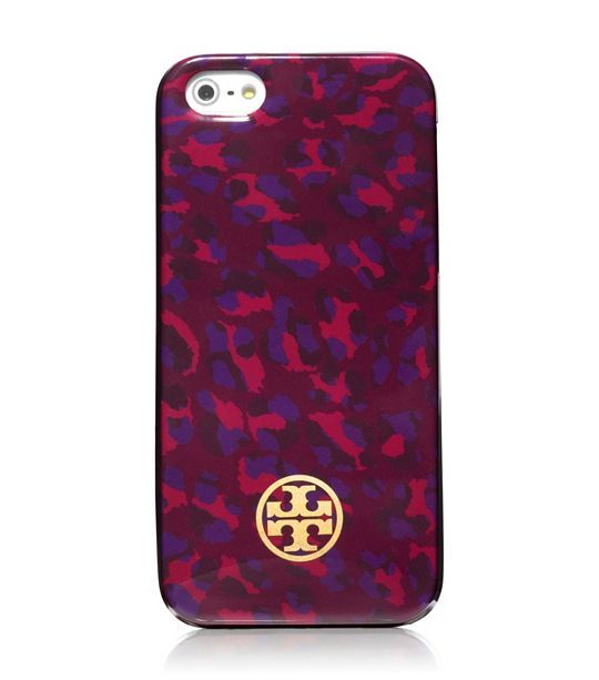 Tory Burch iPhone case in cabernet leopard