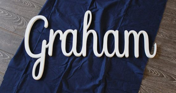 OVERSIZED Graham Baby Name Letters Nursery by CucumberAppleStudio