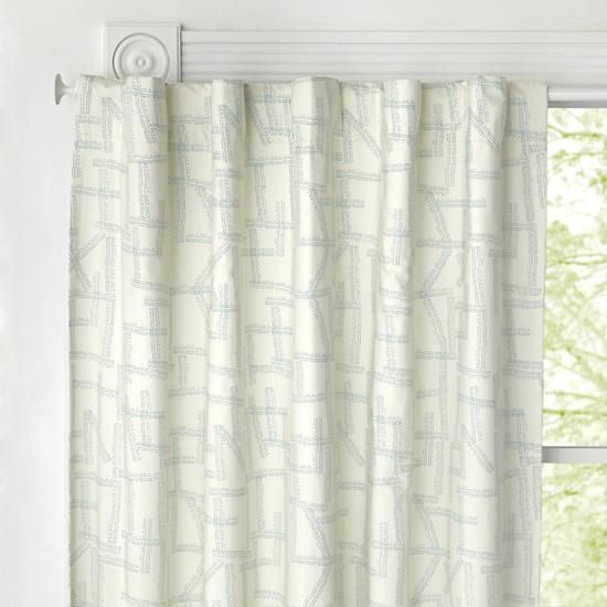 Daily Sketch Blue Blackout Curtains | The Land Of Nod