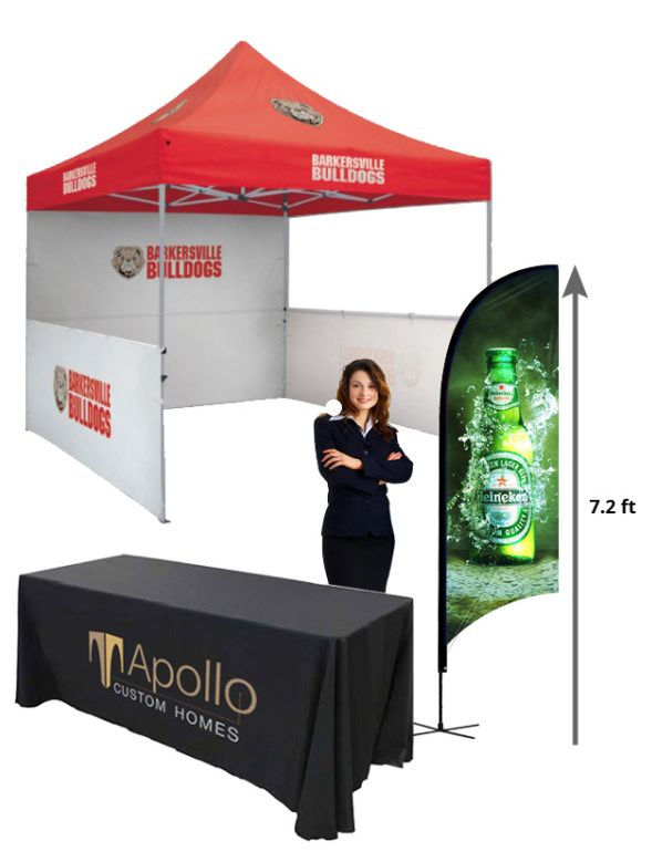 https://flic.kr/p/W7ka4M | Trade show display | combo offer with these banners and table cover and canopy tent.