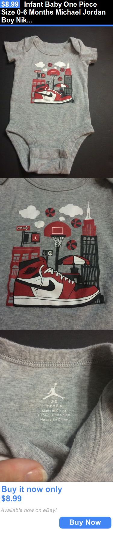 Michael Jordan Baby Clothing: Infant Baby One Piece Size 0-6 Months Michael Jordan Boy Nike Shirt Grey Red BUY IT NOW ONLY: $8.99