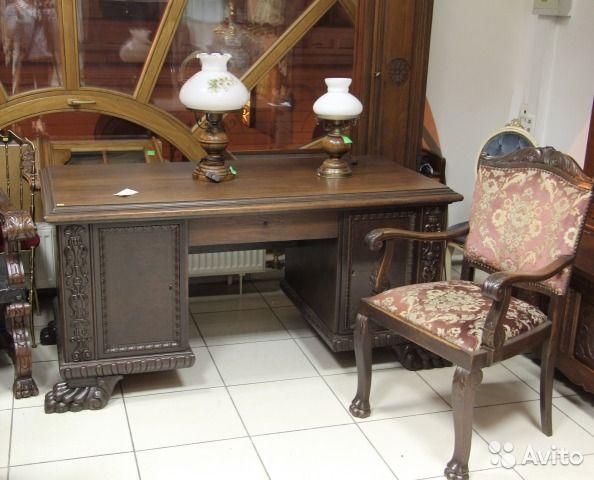 Антикварный дубовый письменный стол на лапах купить в Санкт-Петербурге на Avito — Объявления на сайте Avito