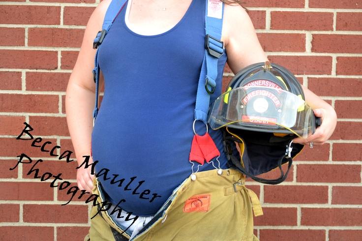 """Daddy's 'lil fireman!""  Maternity portraits!"