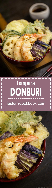 Ten Don - Tenpura Donburi (天丼)   Easy Japanese Recipes at JustOneCookbook.com