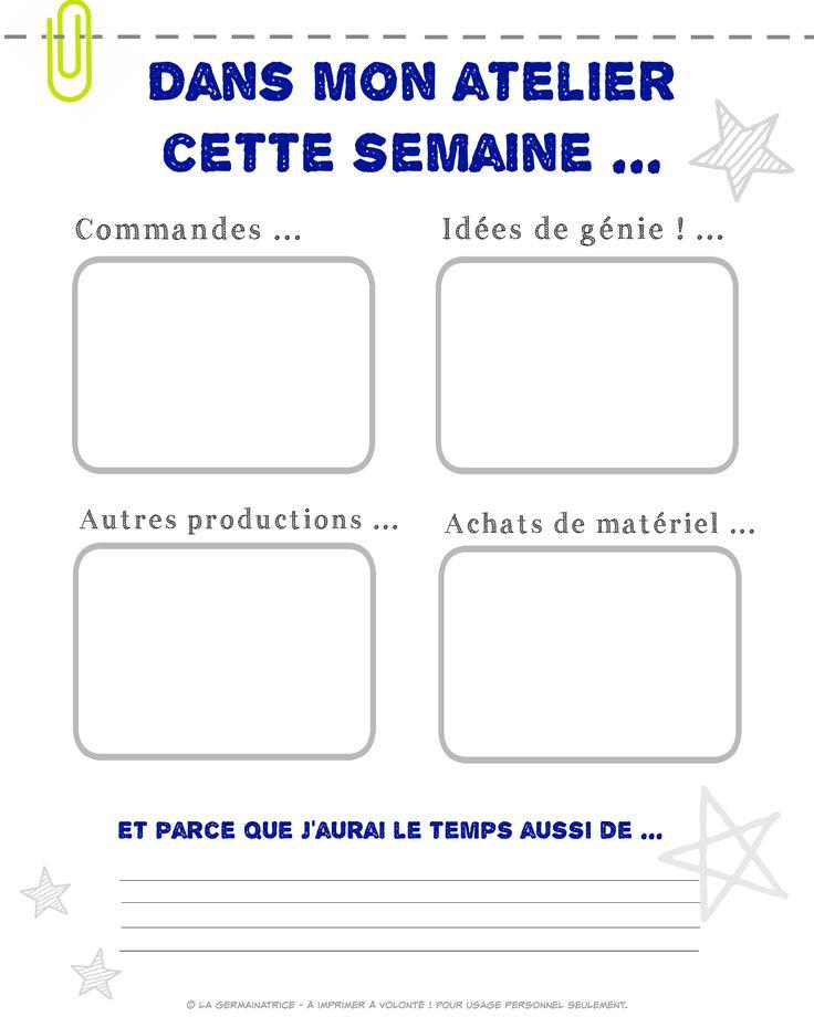 Document imprimable à volonté ! Idéal pour la gestion de votre petite entreprise ou pour les artistes et artisans. :)  JPEG format 8X10