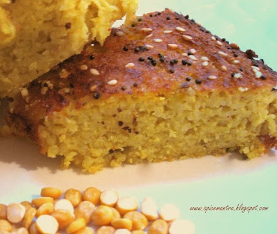 * Treat your tongue *: Back with the recipe of Gujarati Handvo / Handwa ( Lentil cake recipe )