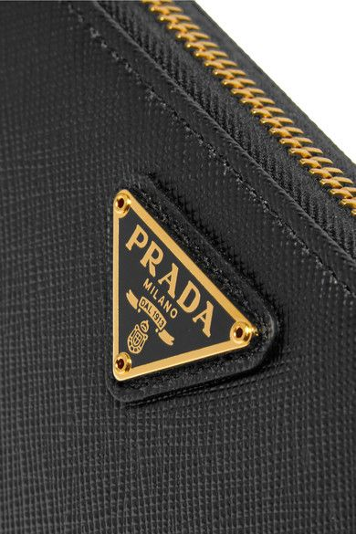 Prada - Travel Textured-leather Continental Wallet - Black - one size