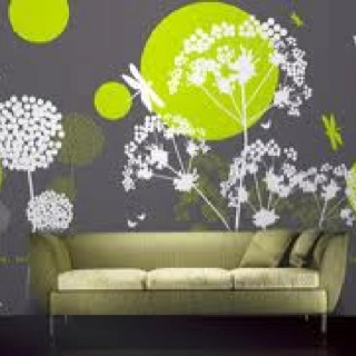 Lime green room interiors furniture and room Fragrancers, out door , furnishing, wall paper