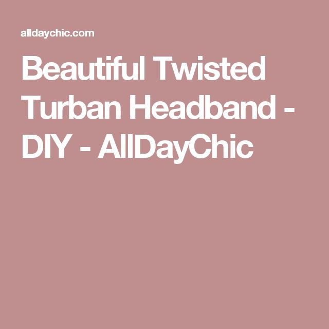 1000 ideas about twisted headband on pinterest knit
