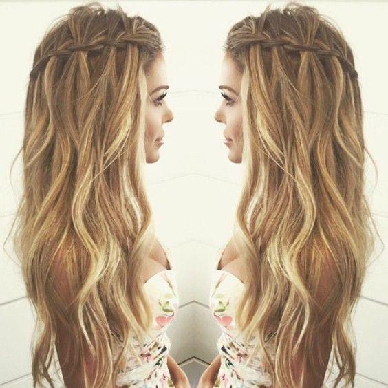 10 hübsche Wasserfall French Braid Frisuren
