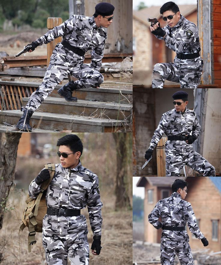 [Visit to Buy] Outdoor Army Hunting Clothes Camouflage Suits Military Tactical Uniforms Outfit for Men Combat Camping Jacket+Pants Ghillie Sets #Advertisement