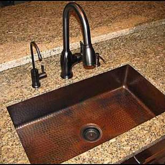 Photo Of Single Bowl Copper Sink Installed   Copper Sink: Kitchen Single Copper  Sink Without Apron