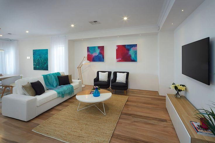 The Belvoir display home Hilbert, Perth. Living room