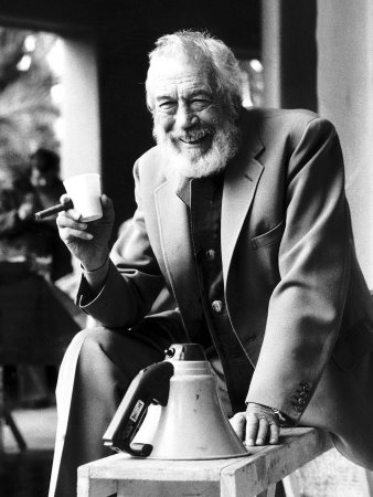 John Huston film director on set of latest film The Man who would be King...