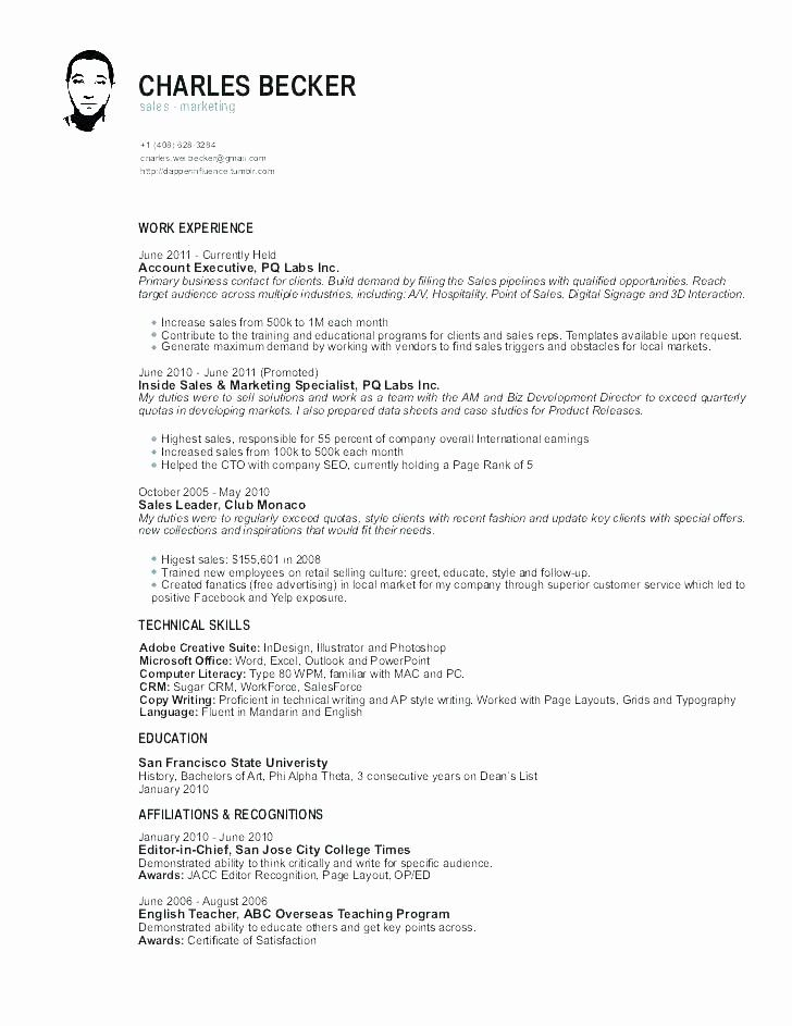 Elegant sales representative resume corporate sales resume