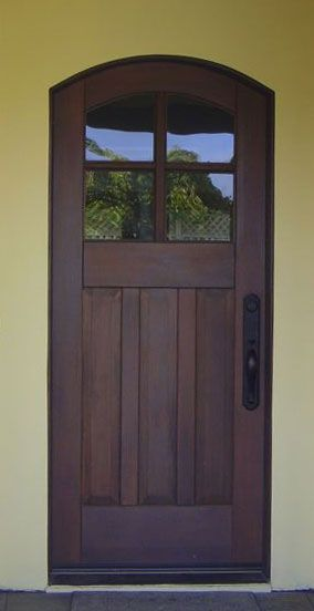 Arched Craftsman Entry Door