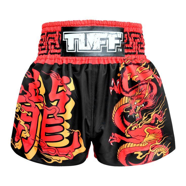 Dragon Vintage Boxing Shorts Kids MMA Grappling Shorts Clothing Gym Muay Thai  #TuffSport