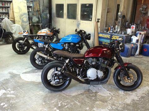 Suzuki 750 Inazuma café racer/ Yamaha XJR tracker/ Suzuki 1200 Inazuma café racer