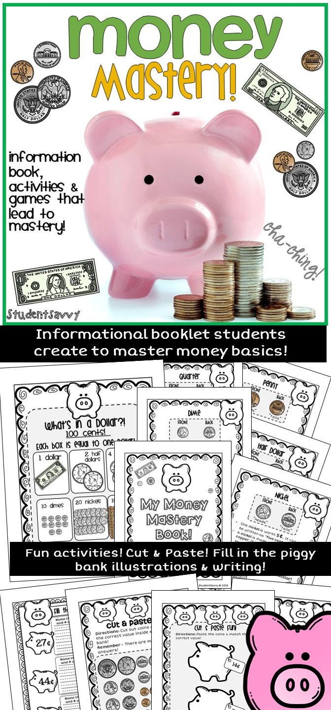 Money Mastery for students! Students create a 20+ page mini book while mastering how to count money!!