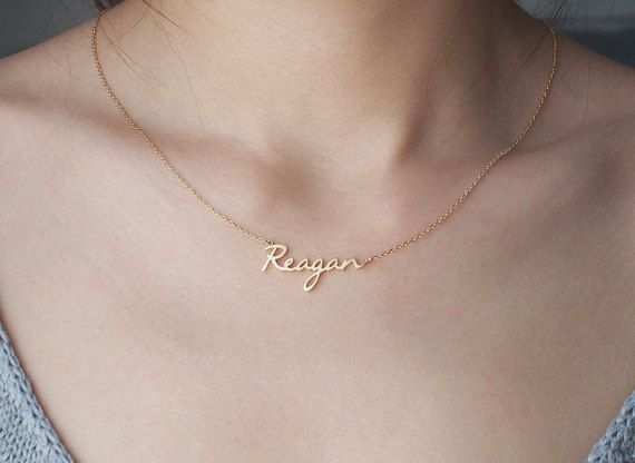 NAME NECKLACE – Etsy