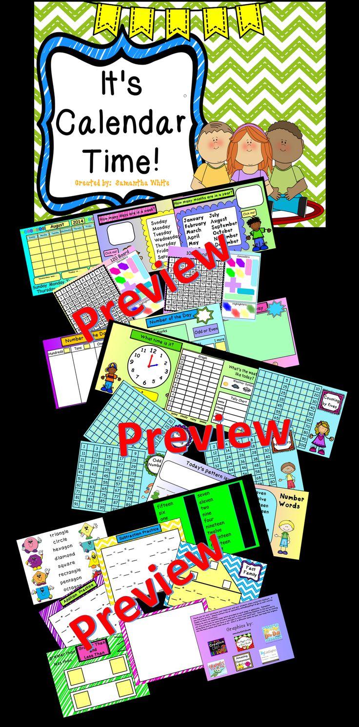Kindergarten Calendar For Promethean Board : Best ideas about teaching calendar on pinterest