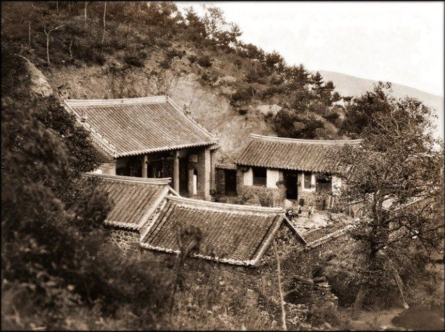 Forest Temple Near Chefoo, Shantung, China [c1895] William H. Jackson