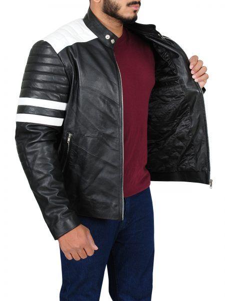 Nerve Movie Dave Franco Biker Leather Jacket   vêtements