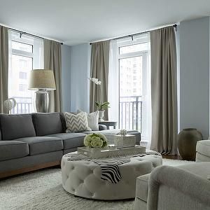 Gray Living Rooms Ottomans And Living Room Blue On Pinterest