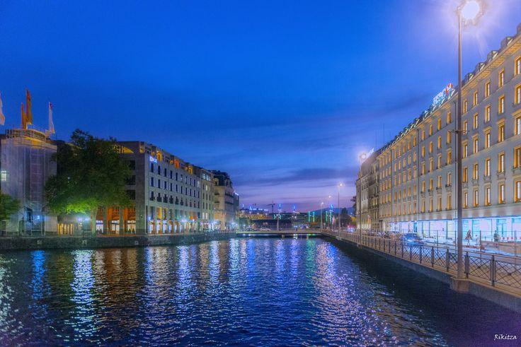 night over Geneva