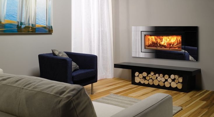 Riva Studio Glass Inset Wood Burning Fires - Stovax Fires