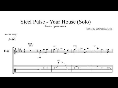 Reggae lead guitar solo TAB - pdf guitar tab download - guitar pro tab video - electric guitar solo tabs