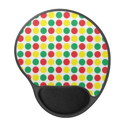 Traffic lights gel mouse pad - red gifts color style cyo diy personalize unique