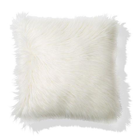 Zsa Zsa Faux Fur Cushion - White