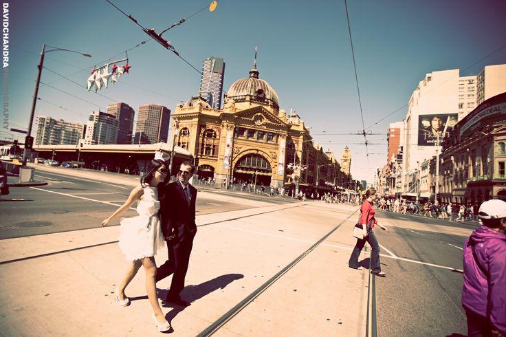 Stephanie & Jose Prewedding - Flinders station Melbourne