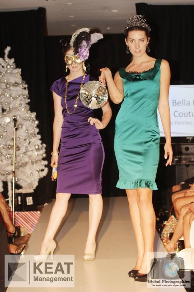 Fontaine Fitted Dress in purple High Tea Dress in emerald
