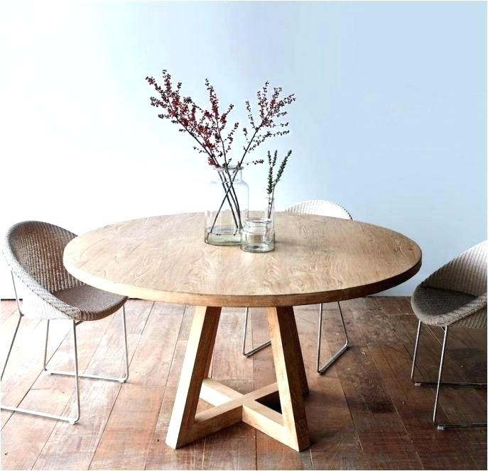 Pin On Kitchen, Whitewashed Round Dining Table