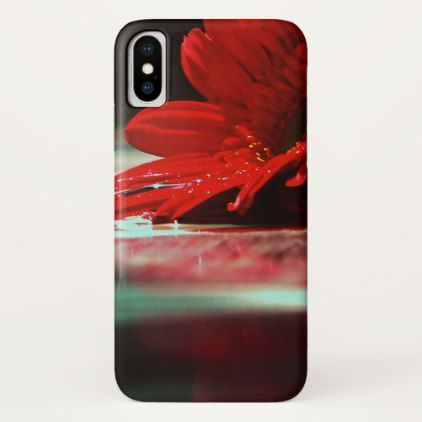 Red Daisy Gerbera Flowers iPhone X Case - floral style flower flowers stylish diy personalize