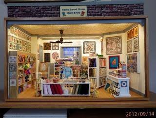 KathieBs Minis: Quilt Shop Room Box More photos
