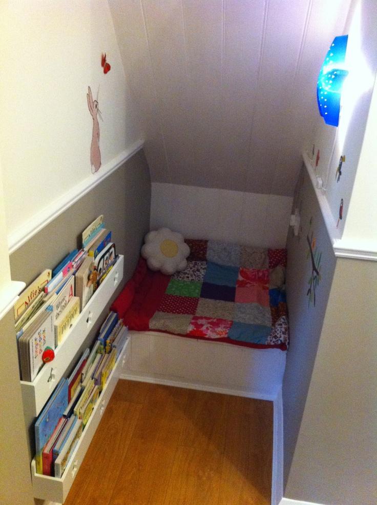 great reading corner idea for girls bedroom | Under Stairs ...