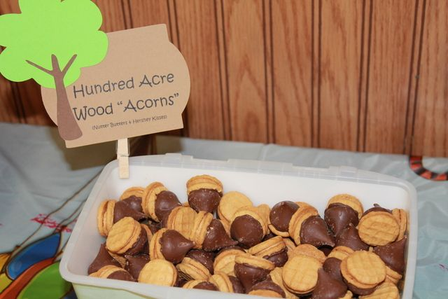Acorn cookies at a Winnie the Pooh Party #acorncookies #winniethepooh