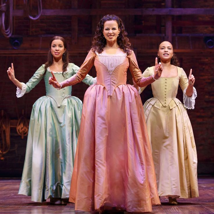 The Schuyler Sisters; Lexi, Mandy, & Peggy >>> Who the hell IS Lexi and Mandy??? And is that Peggy from the original cast?????