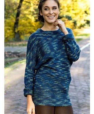 Rewelacyjny, cieply sweter typu nietoperz. Genialne połączenie kolorów. Doskonały na zimne dni.