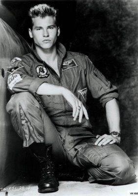 Everyone went nuts over Maverick (Tom Cruise) but I was crazy for Iceman (Val Kilmer). Top Gun, 1986