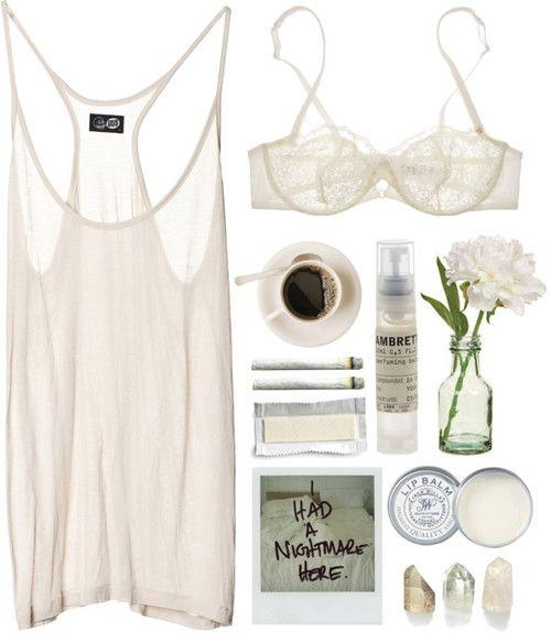 pretty bra + sheer vest